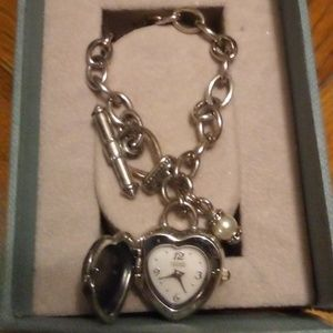 Vintage Ecclissi Sterling Silver Heart Charm Watch